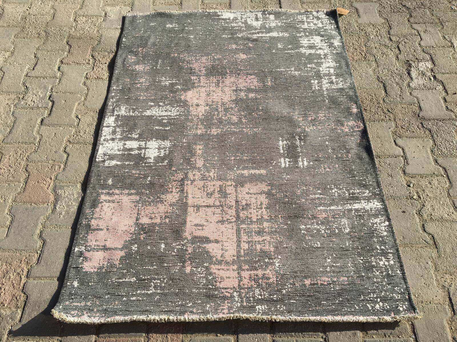 COTTON LÜX KİLİM GRİ PUDRA 120X180 Cotton Lux Kilim Dekoratif Kilim
