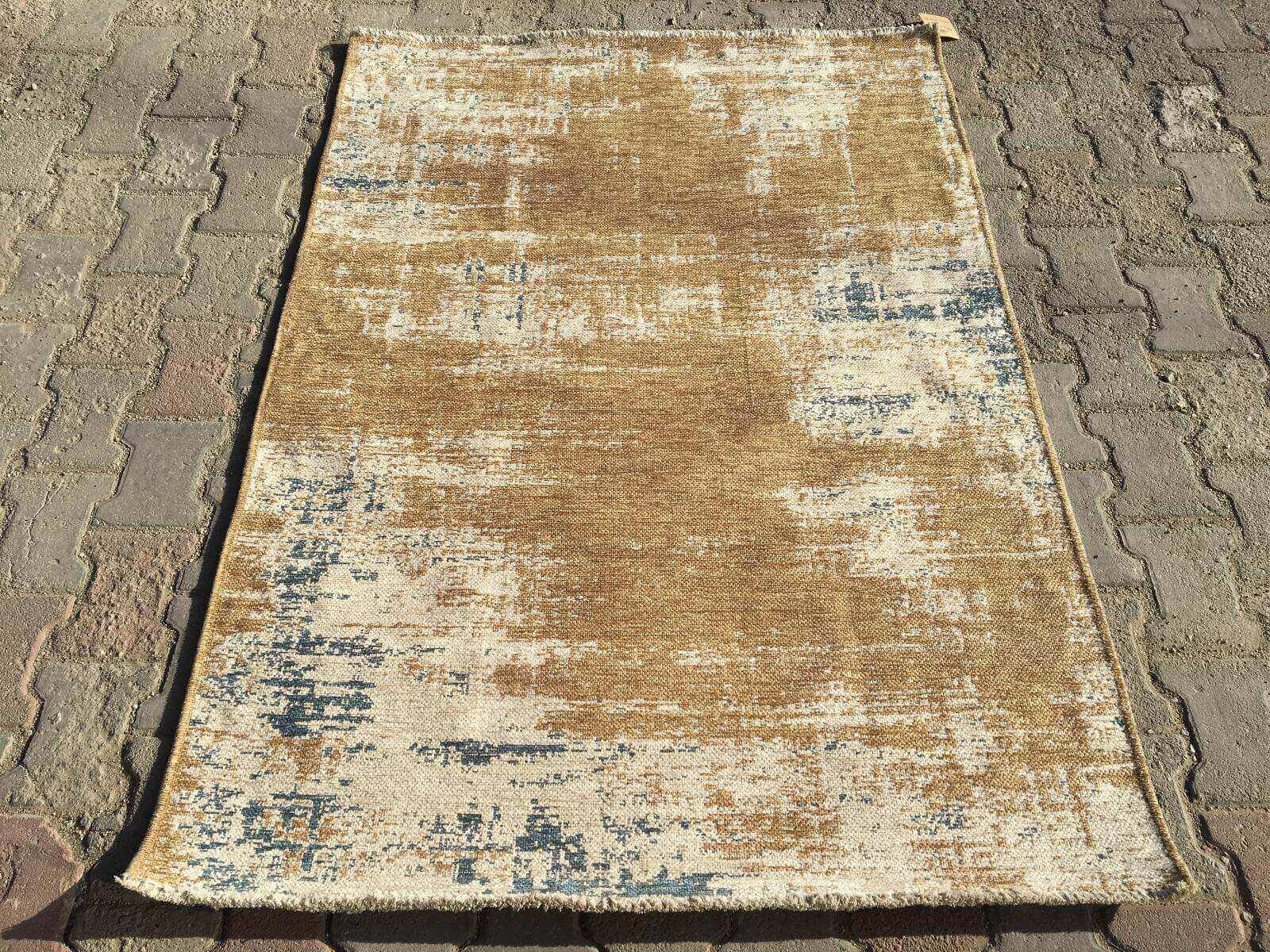 COTTON LÜX KİLİM MAVİ BEJ 120X180 Cotton Lux Kilim Dekoratif Kilim