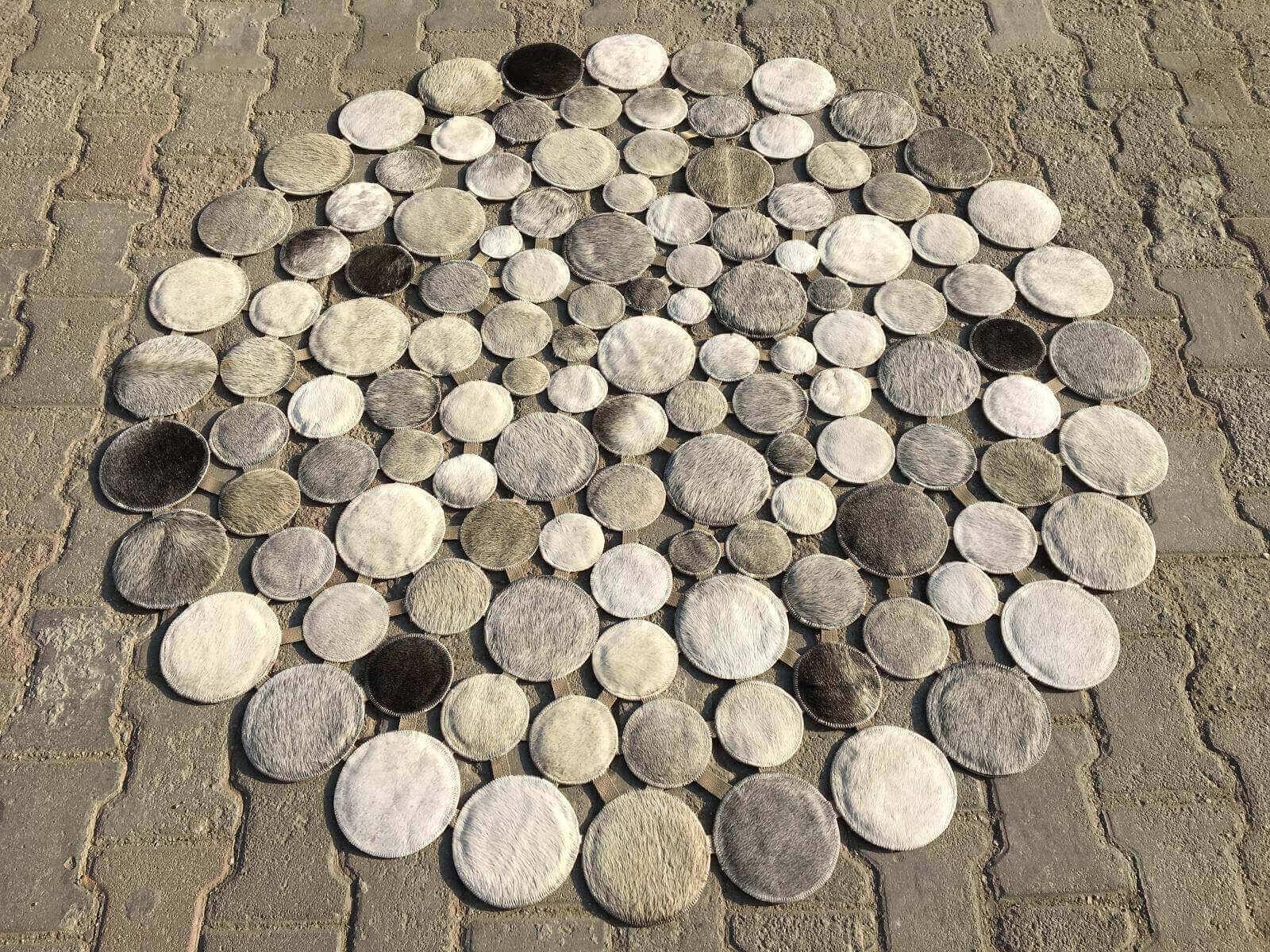 DERİ HALI AVANGARDE YUVARLAK 150X150 Deri Avangarde Halı Deri Halı