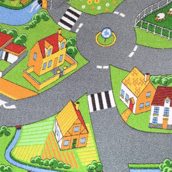 DUVARDAN DUVARA HALI ÇOCUK LİTTLE VİLLAGE 90 Duvardan Duvara Halı Çocuk Oyun Halı