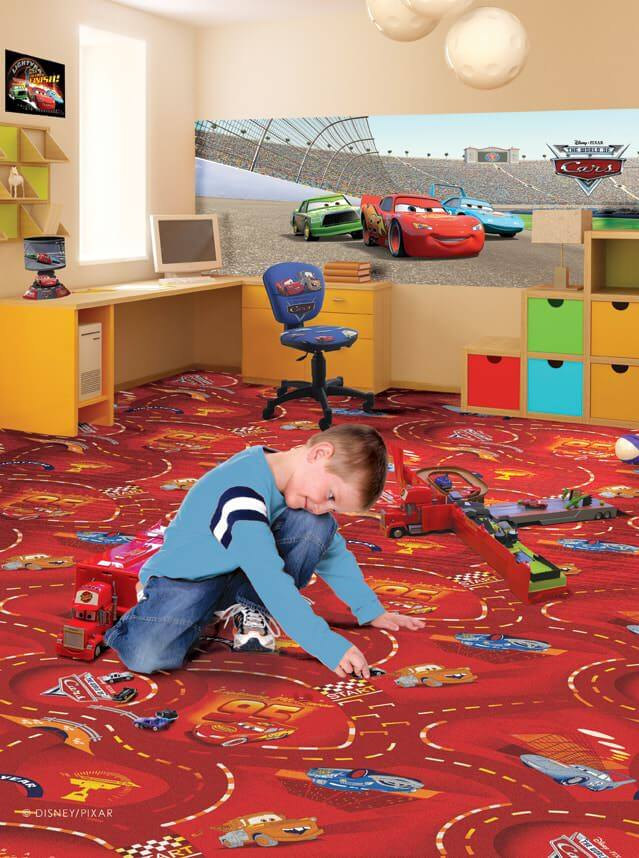 DUVARDAN DUVARA HALI ÇOCUK WORLD OF CARS 10 Duvardan Duvara Halı Çocuk Oyun Halı