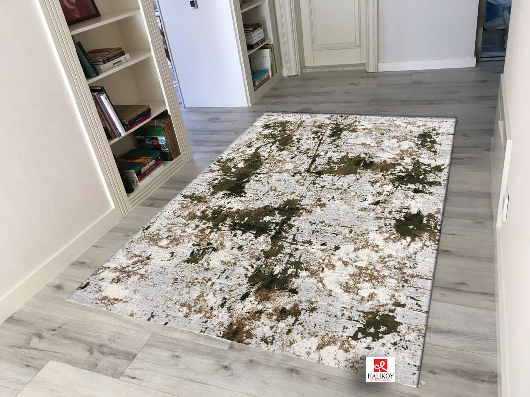 QUALİTY CARPET VOX KREM YEŞİL 160X230 Quality Carpet Quality Halı