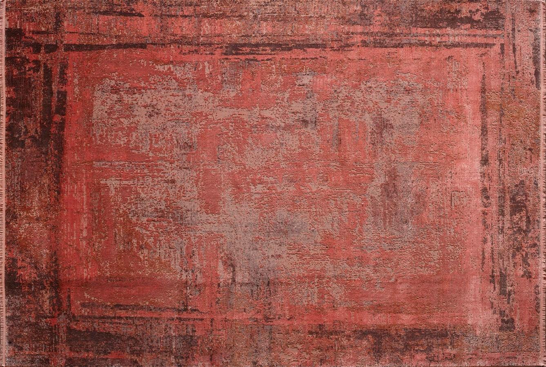 WOOLKNOT HALI OVERDYE RED 340 Woolknot Halı Bambu Halı