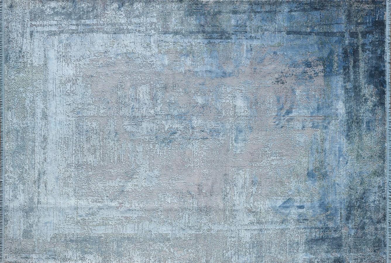 WOOLKNOT HALI OVERDYE BLUE 258 Woolknot Halı Bambu Halı
