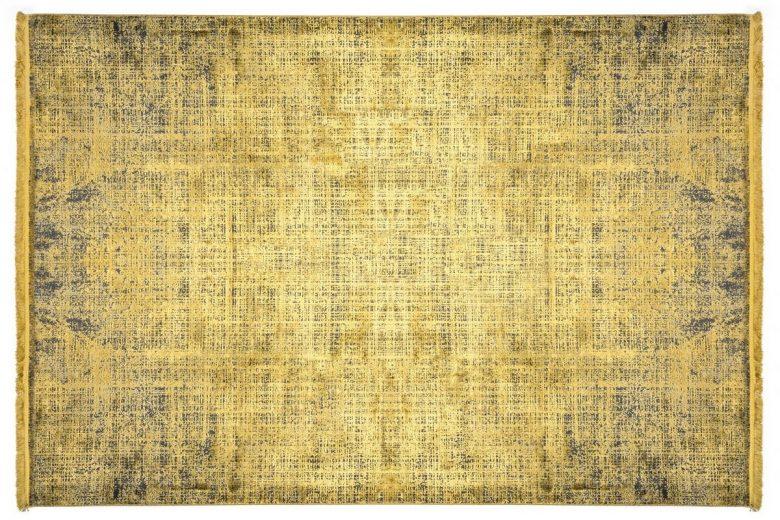 WOOLKNOT HALI COLORE B008B YELLOW Woolknot Halı Bambu Halı