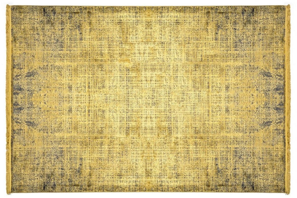 WOOLKNOT HALI COLORE B008B GOLD Woolknot Halı Bambu Halı