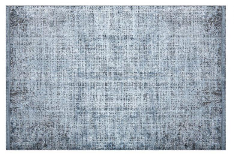 WOOLKNOT HALI COLORE B008B BLUE Woolknot Halı Bambu Halı