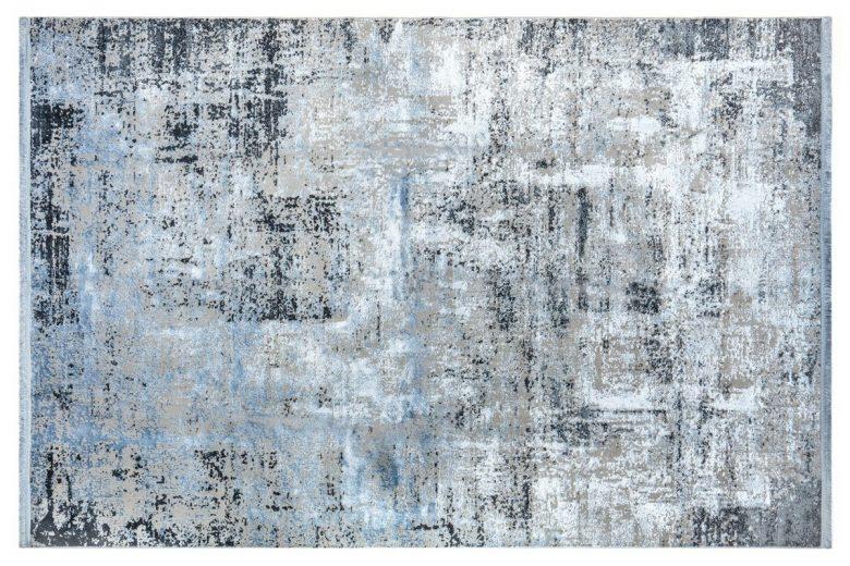 WOOLKNOT HALI COLORE B048Q BLUE Woolknot Halı Bambu Halı
