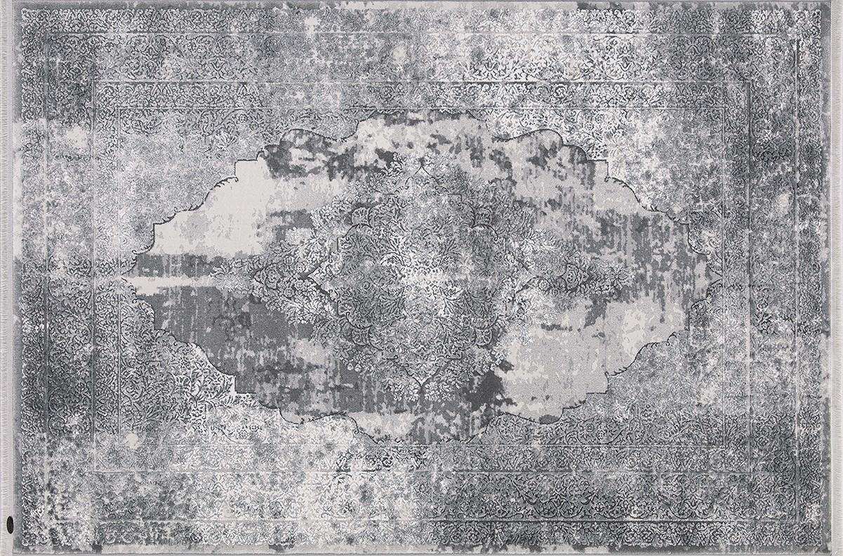 FLORA HALI KRİZANTEM 1675A GRİ Flora Halı Bambu Halı