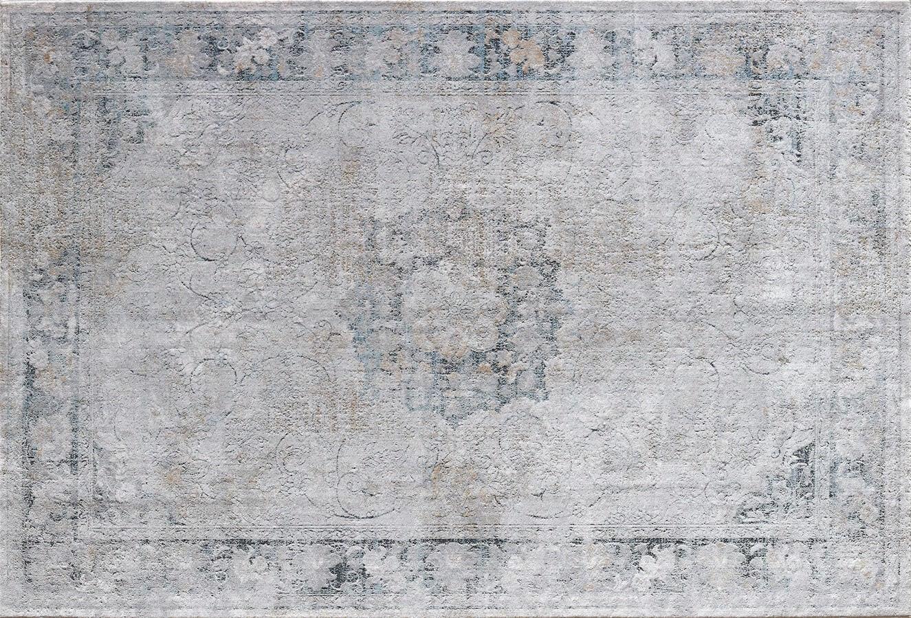 WOOLKNOT HALI MAXELL 796A A.GRİ MAVİ Woolknot Halı Bambu Halı