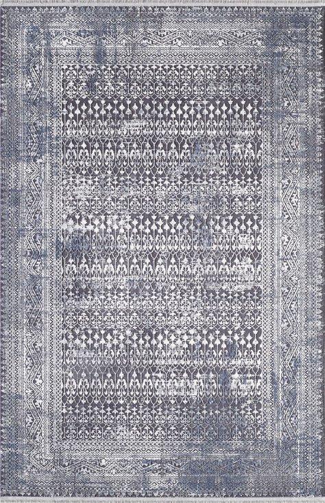 ARTEMİS HALI VALORA 5908A MAVİ SİYAH Artemis Halı Artemis Halı Fiyatları