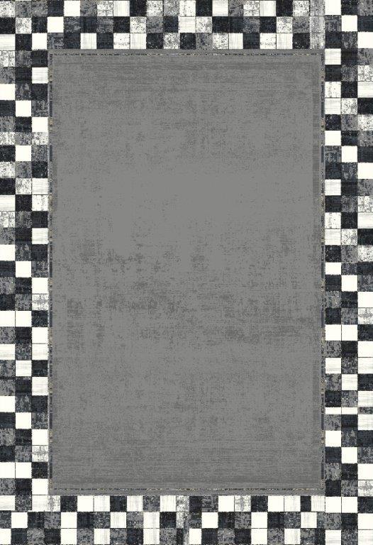 WOOLKNOT HALI BLACK M420H Woolknot Halı Bambu Halı