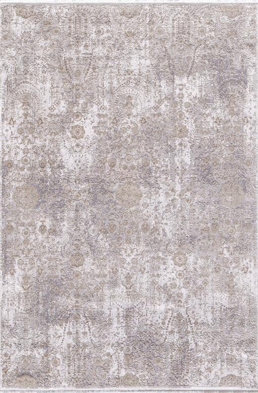 WOOLKNOT HALI GORDİON B170D KREM GRİ Woolknot Halı Bambu Halı