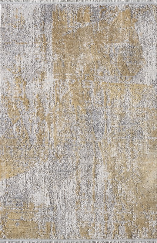 WOOLKNOT HALI GORDİON B173C KREM GOLD Woolknot Halı Bambu Halı