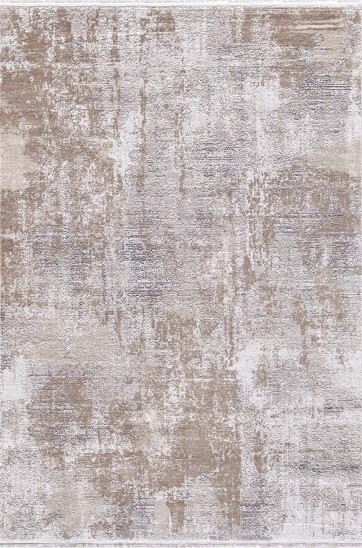 WOOLKNOT HALI GORDİON B173D GRİ KREM Woolknot Halı Bambu Halı