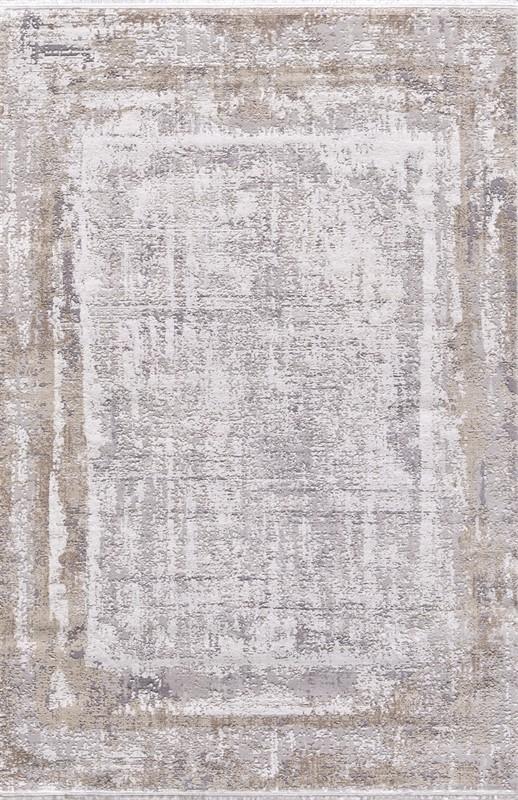 WOOLKNOT HALI GORDİON B177D GRİ KREM Woolknot Halı Bambu Halı