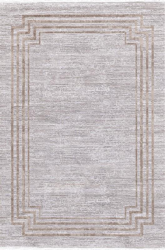 WOOLKNOT HALI GORDİON B294D GRİ KREM Woolknot Halı Bambu Halı