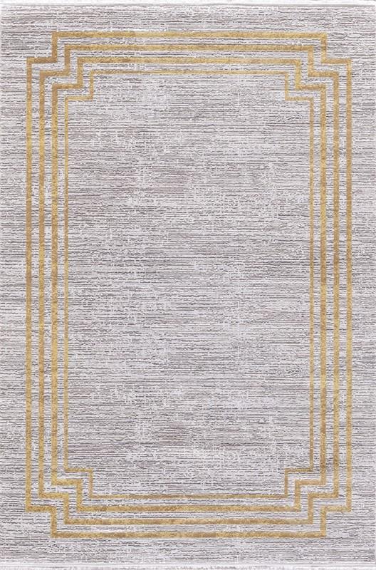 WOOLKNOT HALI GORDİON B294F KREM GOLD Woolknot Halı Bambu Halı