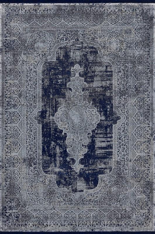 WOOLKNOT HALI OVERDYE DARK BLUE 1901 Woolknot Halı Bambu Halı