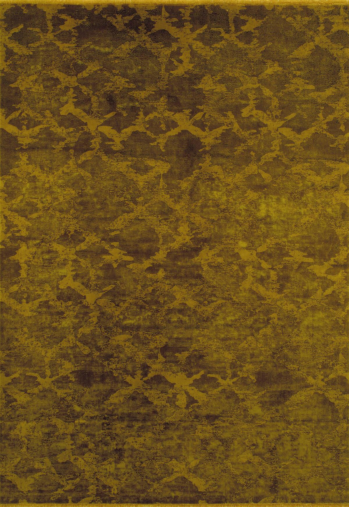 KADİFE KİLİM 5302 GOLD Kadife Kilim Dekoratif Kilim